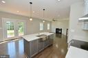 Kitchen island with pendant lights - 3 CLARA MAE COURT, ROUND HILL