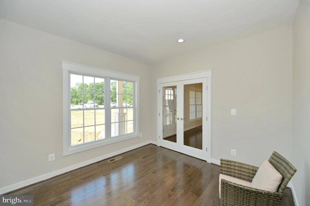 Office/den/study with french doors with hardwoods - 3 CLARA MAE COURT, ROUND HILL