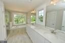 Master bath with custom tile and granite - 3 CLARA MAE COURT, ROUND HILL