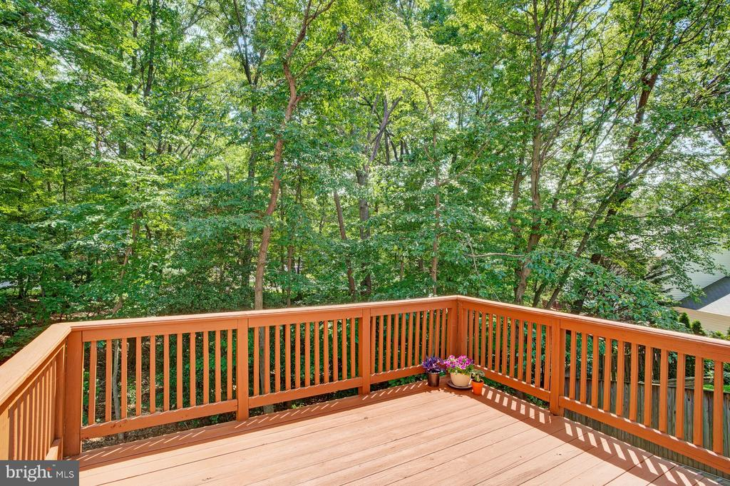 Large deck backs to woods - 5994 POWELLS LANDING RD, BURKE