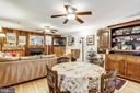 Family Room with ceiling fans, oak woods - 10733 CROSS SCHOOL RD, RESTON