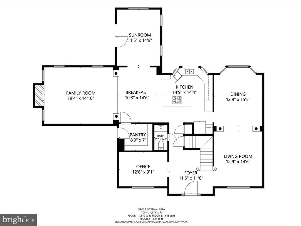 Main Floor Plan - 14430 HAMILL RUN DR, GAINESVILLE