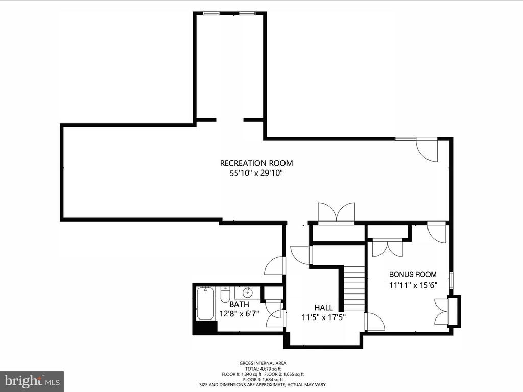 Basement Floor Plan - 14430 HAMILL RUN DR, GAINESVILLE