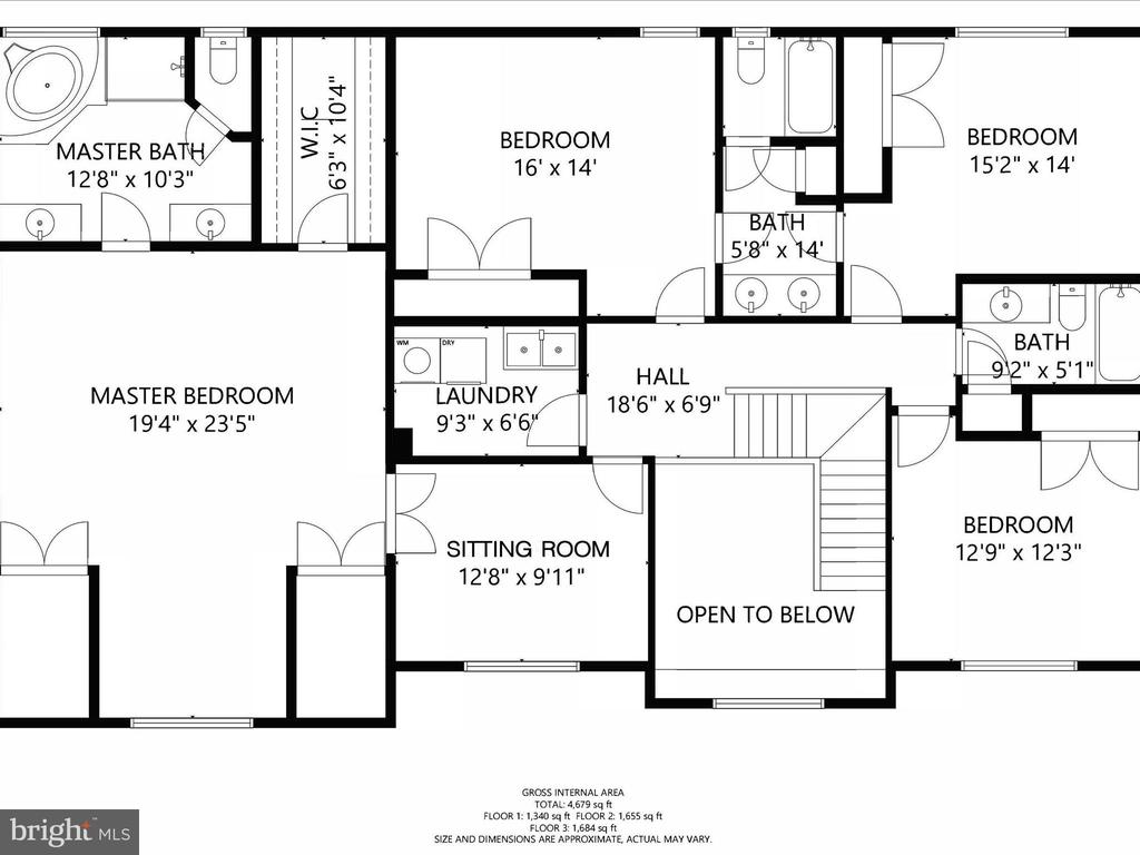 Upper Floor Plan - 14430 HAMILL RUN DR, GAINESVILLE