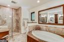 Fully remodeled BA  w/soaking tub, enclosed shower - 10733 CROSS SCHOOL RD, RESTON