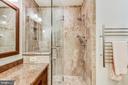 Frameless shower door, ceramic tile, heated towel! - 10733 CROSS SCHOOL RD, RESTON