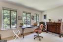 Bedroom 1 with plenty of windows & light, carpet - 10733 CROSS SCHOOL RD, RESTON