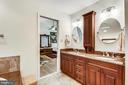 Dual vanity with custom cabinetry,  granite - 10733 CROSS SCHOOL RD, RESTON