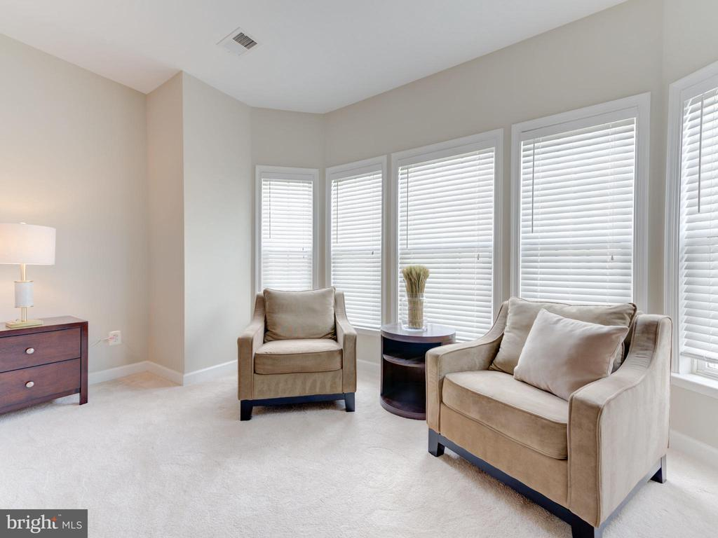 OWNERS SUITE SITTING AREA W/WALL OF WINDOWS - 19145 COMMONWEALTH TER, LEESBURG