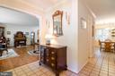 Entrance from foyer to large living room - 4621 TAPESTRY DR, FAIRFAX