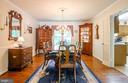Formal Dining room off living room - 4621 TAPESTRY DR, FAIRFAX
