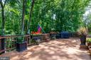 Deck backs to wooded common area and stream - 4621 TAPESTRY DR, FAIRFAX