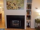 Gas fireplace with built in book cases! - 20602 CORNSTALK TER #102, ASHBURN