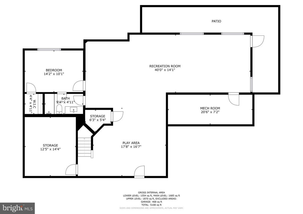 Bright open LL for play, media, exercise, hobbies - 6218 30TH ST N, ARLINGTON