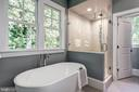slipper soaking tub, rain, and handheld showers - 2320 N VERNON ST, ARLINGTON