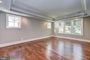 cove ceiling, recessed lights, windows at bed wall - 2320 N VERNON ST, ARLINGTON