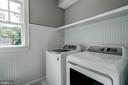 washer and dryer and laundry room window - 2320 N VERNON ST, ARLINGTON