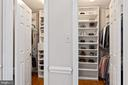 Huge Custom Master Walk-in Closet - 10735 BEECHNUT CT, FAIRFAX STATION
