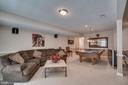 Basement Recreation Room with Pool Table Lighting - 175 SAINT MARYS LN, STAFFORD