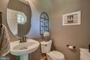 Main Level Powder Room with Pedestal Sink - 175 SAINT MARYS LN, STAFFORD