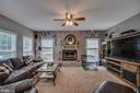 Stone Wood Burning Fireplace in Family Room - 175 SAINT MARYS LN, STAFFORD