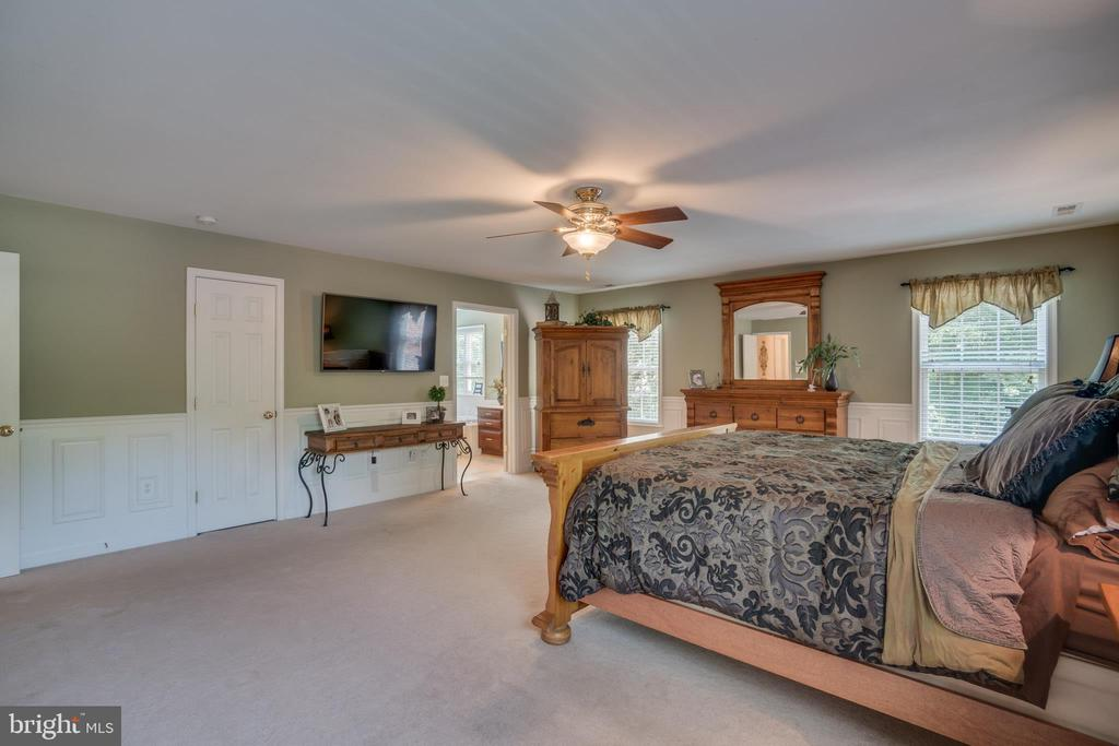 Wainscoting and Ceiling Fan  in the Master - 175 SAINT MARYS LN, STAFFORD