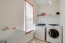 Large Main Level Laundry with Laundry Sink - 231 REBECCA DR, WINCHESTER