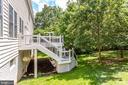 Rear yard with treed views - 43083 ROCKY RIDGE CT, LEESBURG