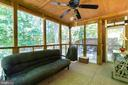 Screened in back porch - 261 TELEGRAPH RD, STAFFORD