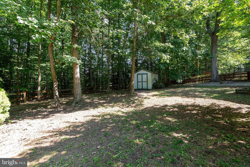 Backyard with storage shed - 261 TELEGRAPH RD, STAFFORD
