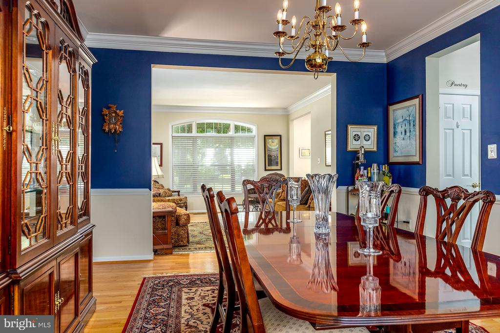 DINING ROOM W/CUSTOM PAING - 25753 SPECTACULAR RUN PL, CHANTILLY