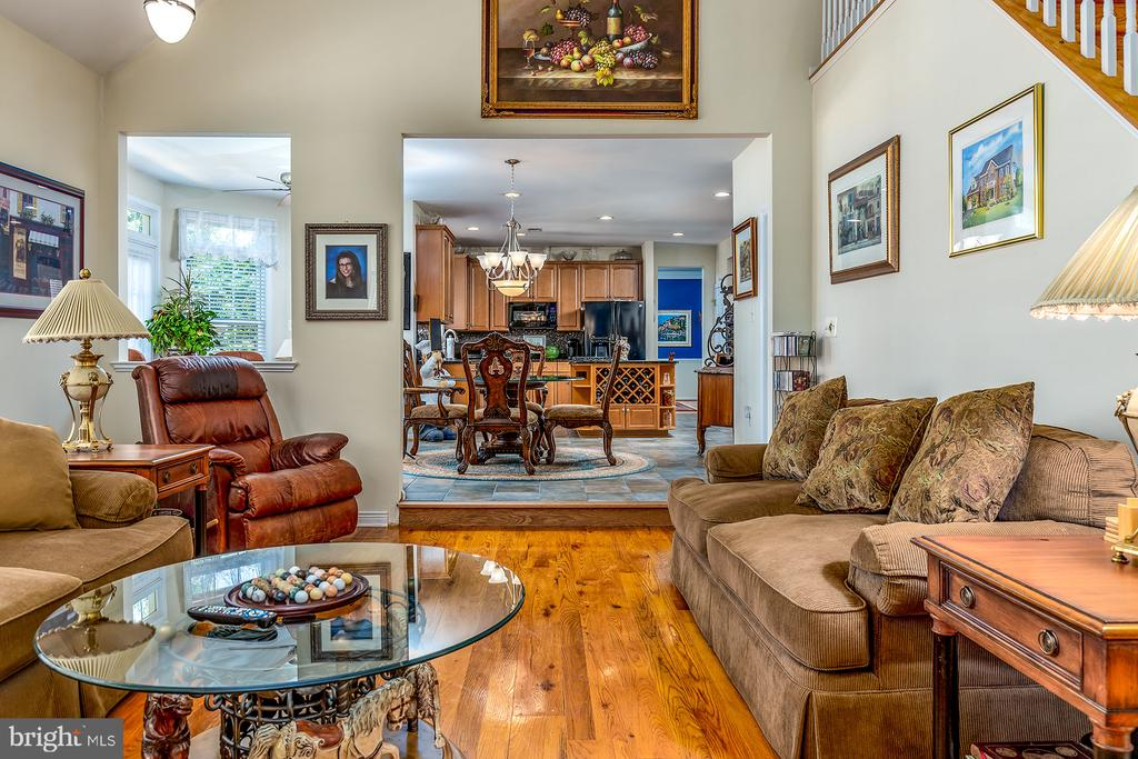 UNIQUE HARDWOODS IN FAMILY ROOM - 25753 SPECTACULAR RUN PL, CHANTILLY