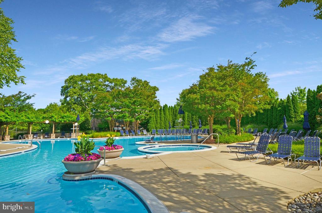 Resort style pool at Lansdowne clubhouse - 43083 ROCKY RIDGE CT, LEESBURG