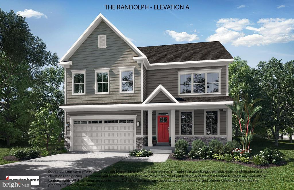 The Randolph - Front Elevation A - 13408 PARTRIDGE DR, SILVER SPRING