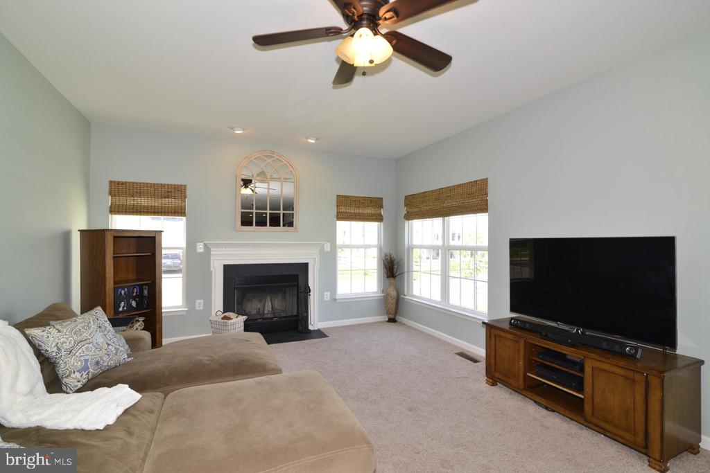 Family Room with Wood Burning Fireplace - 17618 CLEVELAND PARK DR, ROUND HILL