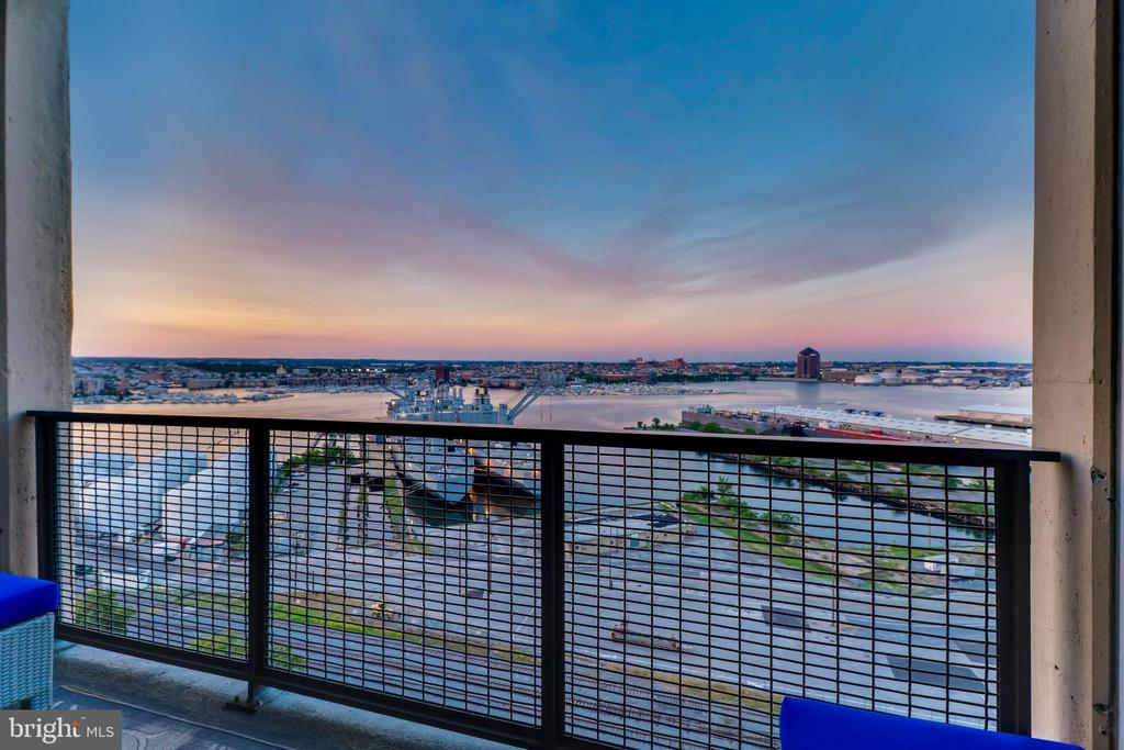 Views from private balcony - 1200 STEUART ST #1611, BALTIMORE