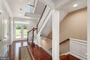 Grand central staircase - 7375 TUCAN CT, WARRENTON