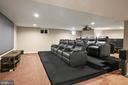 Awesome Media Theatre center - 7375 TUCAN CT, WARRENTON