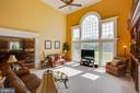 Beautiful Wall of Windows Overlooking Rear Yard - 22388 BELLE TERRA DR, ASHBURN