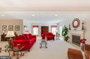 Open Finished Rec Room w/ Fireplace - 22388 BELLE TERRA DR, ASHBURN
