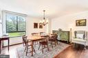 Spacious dining area with large window - 1800 OLD MEADOW RD #621, MCLEAN