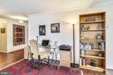 Desk/office nook in living room - 1800 OLD MEADOW RD #621, MCLEAN