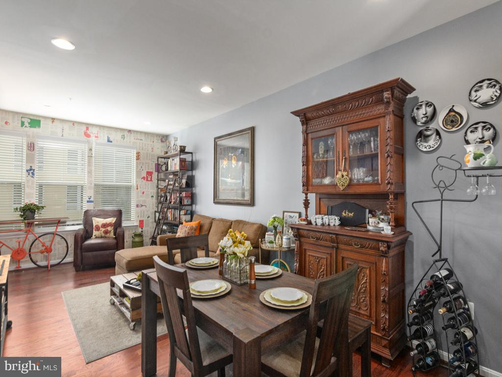 Dining & Living Area-Open Floor Plan Concept - 613 BARNES ST NE, WASHINGTON