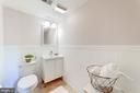 Lower Level Half Bath - 633 PROSPECT PL, ALEXANDRIA