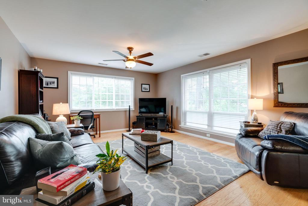 Living room with lots of natural light - 1427 N VAN DORN ST #B, ALEXANDRIA
