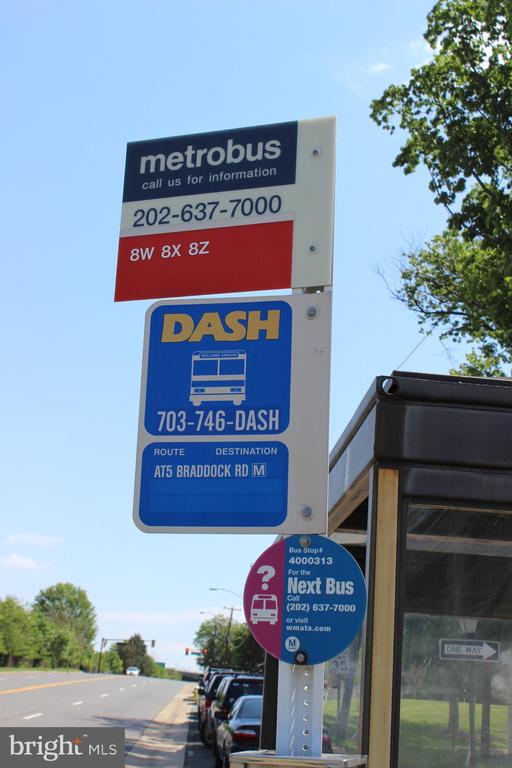 Dash and Metro Bus stops right outside - 1427 N VAN DORN ST #B, ALEXANDRIA