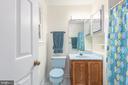 Master bath separate room w/ shower & vanity - 35 GREEN LEAF TER, STAFFORD
