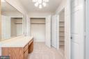 Private dressing area with two large closets. - 35 GREEN LEAF TER, STAFFORD
