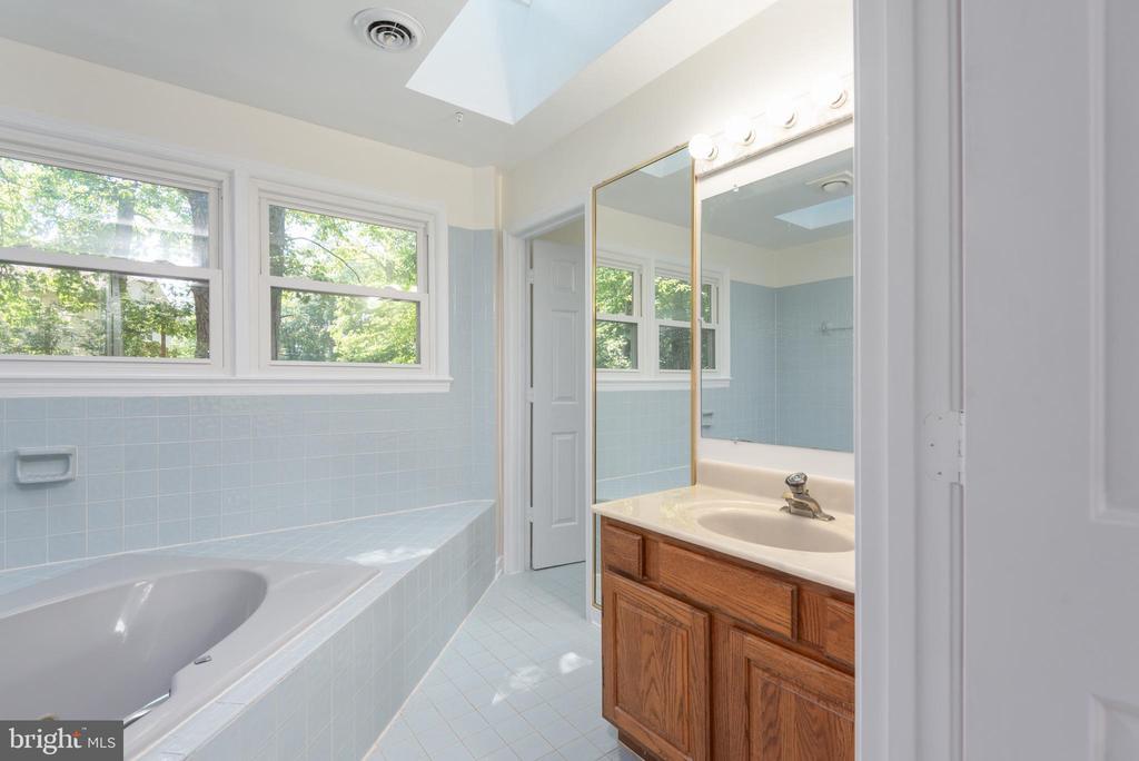 Master bath room 1 has a vanity. - 35 GREEN LEAF TER, STAFFORD