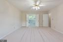 Master bedroom upper with double doors to bath. - 35 GREEN LEAF TER, STAFFORD
